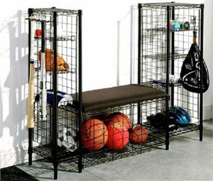Organize It All 15723 Sports Bench with Storage Towers