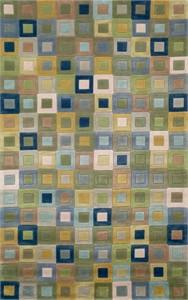 Trans Ocean Amalfi 1966/04 Square in Square Ocean Area Rug