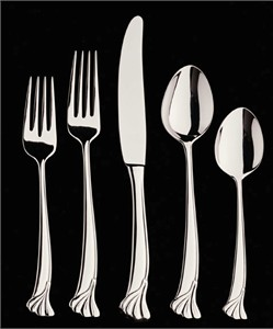 Helmick Collection 40015-2 Ginkgo Leaf Stainless Flatware Set