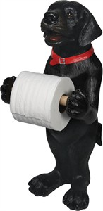 Standing Black Lab Toilet Paper Holder