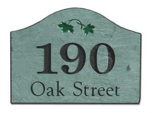 Stone Mill 31407 Slate Home Address Plaque 8x12 Loaf Shape