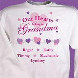 Our Hearts Belong to Personalized Sweatshirt