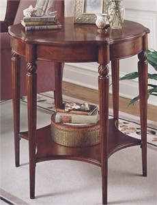 Traditional End Table with shelf