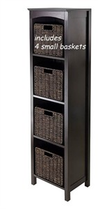 Narrow Storage Cabinet with Pull Out Baskets