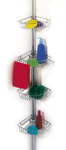 Tension Pole Shower Caddy with 4 shelves