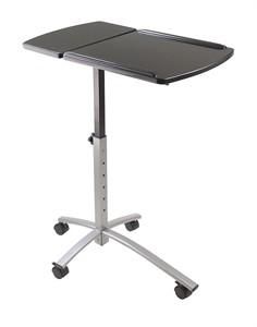Adjustable Height Tilt Top Laptop Cart