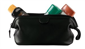 Leather Toiletry Travel Bag