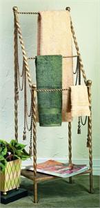Swag & Tassel Iron Towel Valet