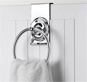 Over Vanity Door Towel Ring