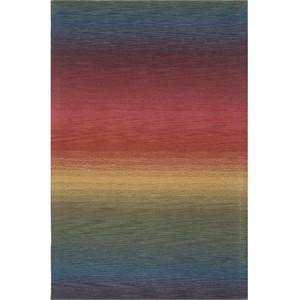 Trans Ocean 9620/44 Ombre Area Rug - multi stripe wool rug