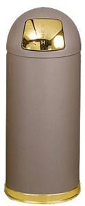 United Receptacle R1536SBBR 15 Gallon Trash Can