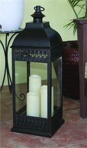 San Nicola Triple Pillar LED Candle Lantern