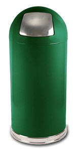 United Receptacle Round Top 15 Gallon Waste Receptacle