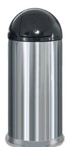 United Receptacle R1536SS Stainless Steel Trash Bin