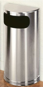 United Receptacle SO8SSS Half Round Trash Can