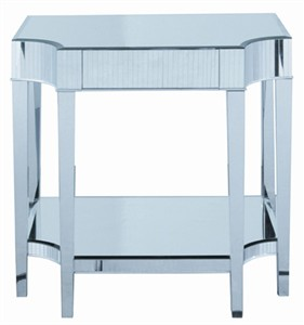 Mirrored Top Cinema Side Table