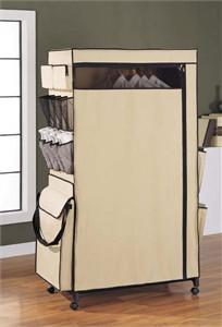 Freestanding Canvas Storage Wardrobe