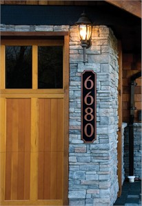 Personalized Vertical House Number Sign