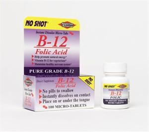 Vitamin B-12 sublingual with folic acid