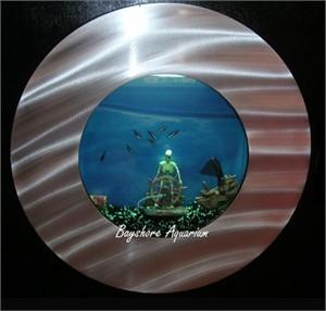Bayshore Aquarium Round Wall Art Aquarium