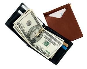 Men's Money Clip Leather Wallet