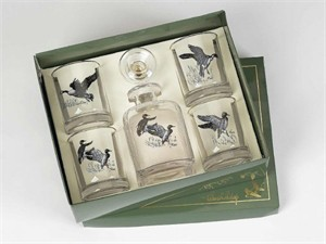 Water Fowl Decanter Set