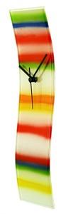 "Artisan Glass 16"" Wave Wall Clock"