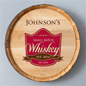 Personalized Whiskey Barrel Sign