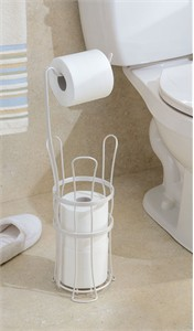 White Toilet Paper Stand