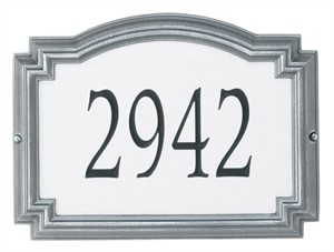 Williamsburg Reflective Address Plaque