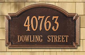 Williamsburg Estate Personalized Address Plaque