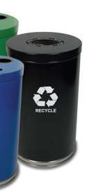 Witt 18RTBK-1H Black Recycling Container