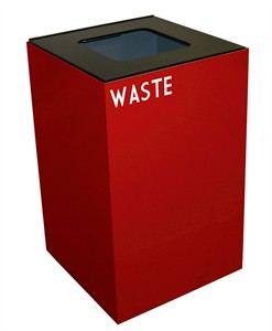 Witt Scarlet Red Geo Cube Recycling Container