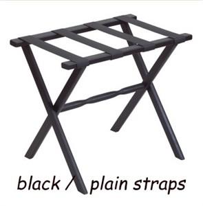 Folding Wood Luggage Rack with Black Leather Straps