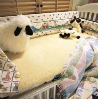 SnugFleece Woolens Washable Wool Crib Mattress Pad