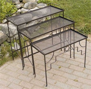 Wrought Iron Nesting Tables