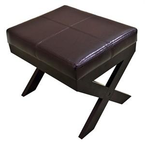 X Leg Ottoman Footstool